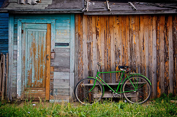 Shed with bike
